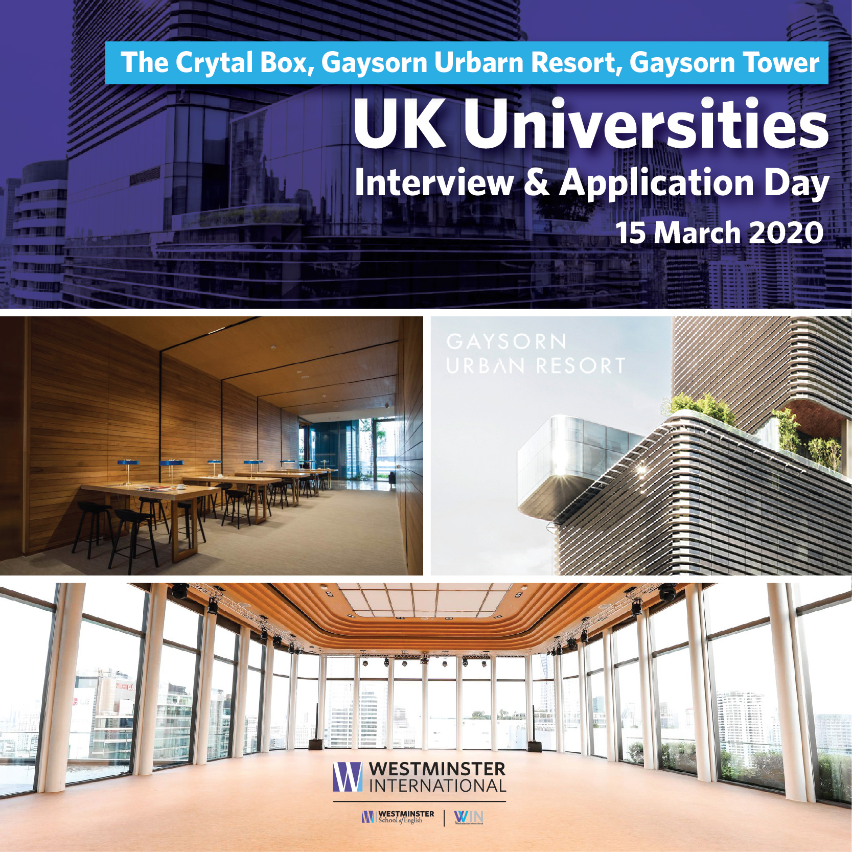 UK Universities Interview & Application Day – 15 March 2020